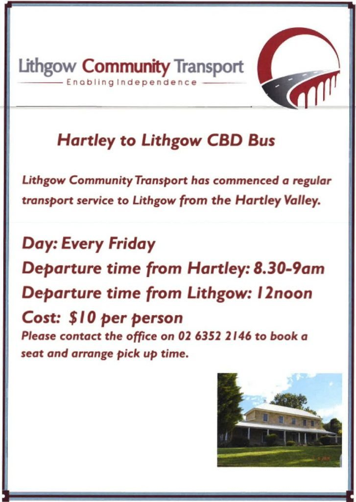 Lithgow Community Transport flyer