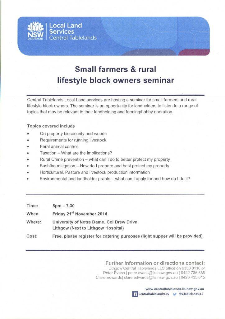 Small Farms Seminar