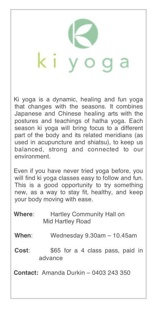 Ki Yoga single flyer